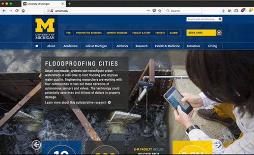 U of Michigan Front Page